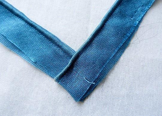 como coser vneckline
