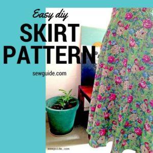 patrón de falda fácil