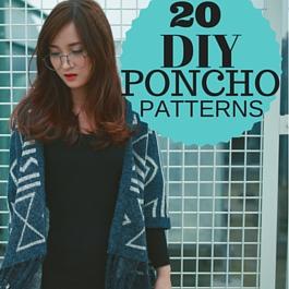 Cómo coser poncho - 20 patrones gratis