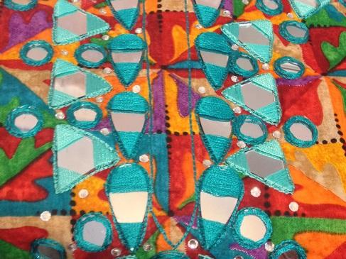 bordado de shisha o trabajo de espejo