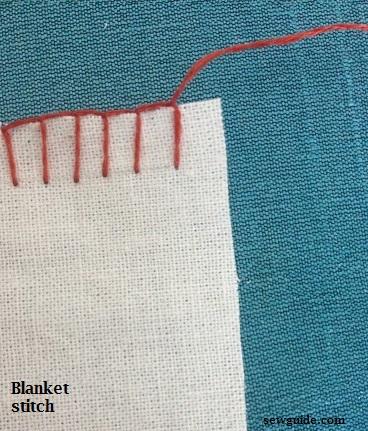 Cómo coser a mano la puntada de la manta