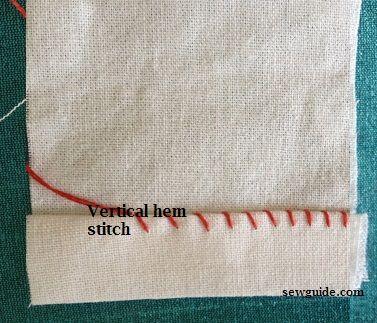 Cómo coser un dobladillo - puntada de dobladillo vertical