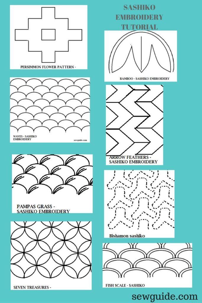 motivos de diseño sashiko