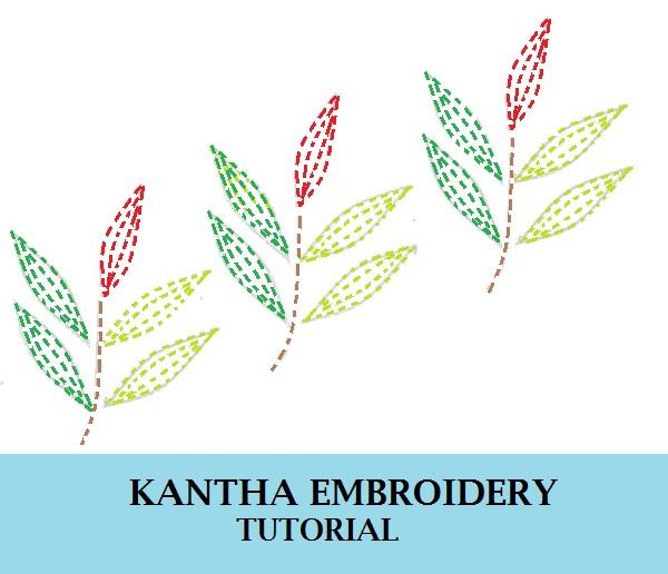 cómo hacer el trabajo de diseño de kantha ebroidery