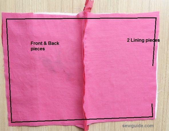 bolsa de tela con cremallera