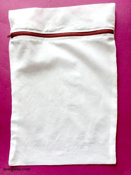 cómo coser una bolsa para lavar prendas delicadas