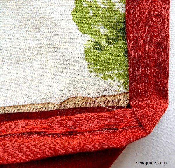 costura de patrón de bolsa de supermercado