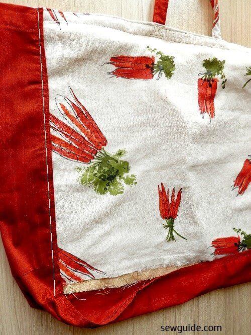 patrón de costura de bolsa de supermercado y tutorial