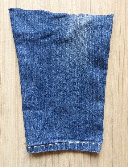 bolsa de jeans viejos