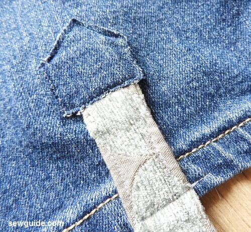 viejo bolso de bricolaje jean