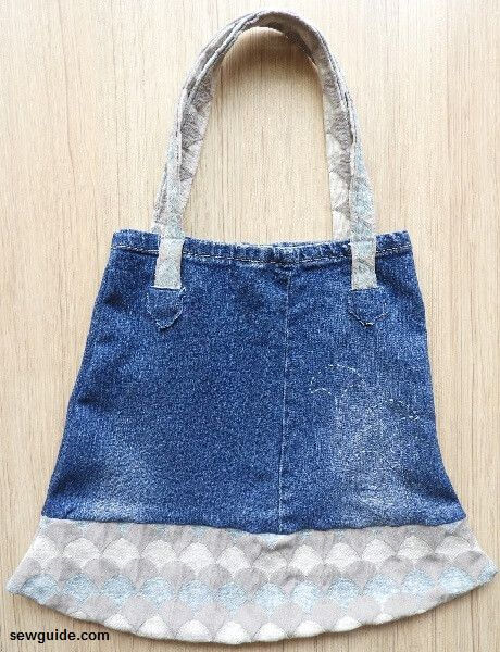 patrón de bolsa de jean