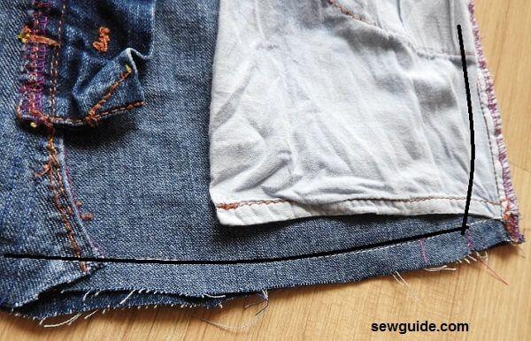 patrón de bolso de mano vaquero