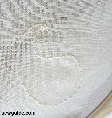 bordado de hilo dibujado