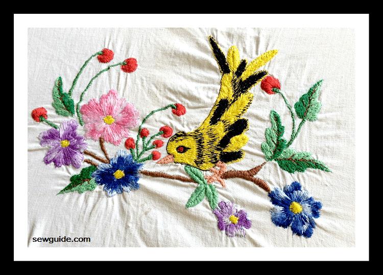 bordado a mano libre de la máquina de coser