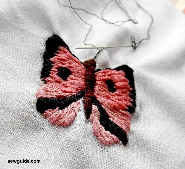 cómo hacer bordados de mariposas