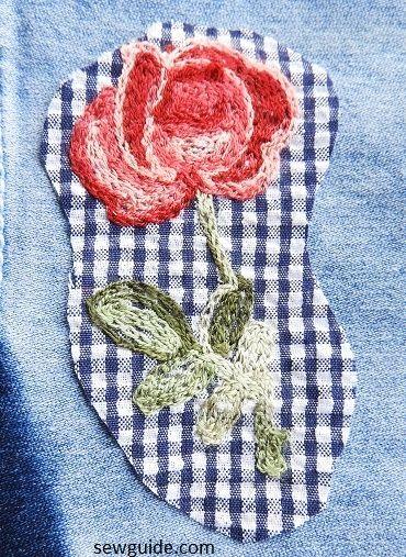 bordado de rosas