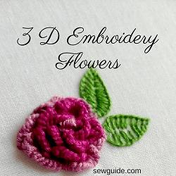 Flores de bordado 3D