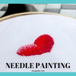 pintura de aguja