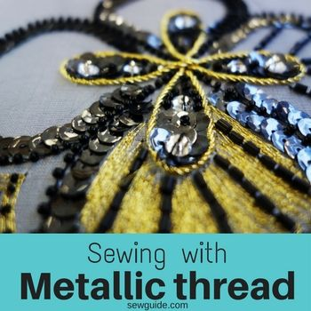 coser con hilo metálico