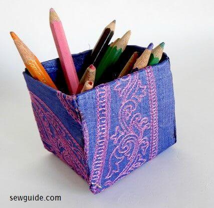 tutorial de bricolaje caja de tela