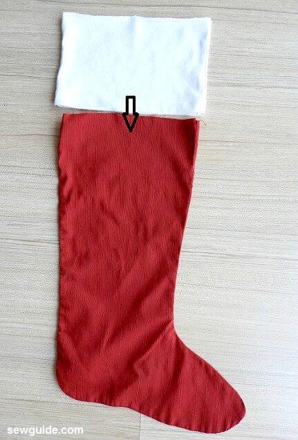 coser calcetín de navidad