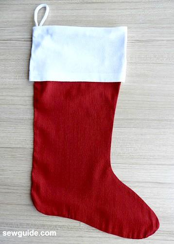 como hacer un calcetín de navidad