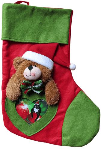 patrón de calcetín de navidad