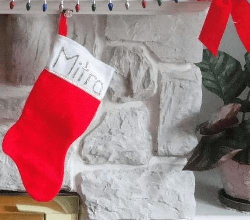 hacer calcetín de navidad