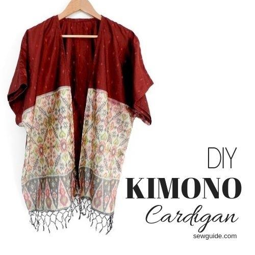 kimono cardigan diy patrón