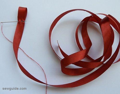 hacer rosa con cintas