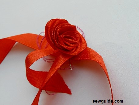cinta enrollada rosa