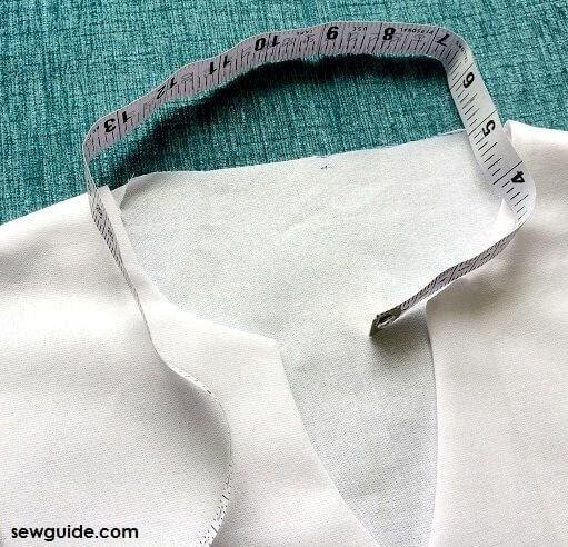 cómo coser collar mandarín