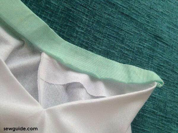 cuello chino corte y costura