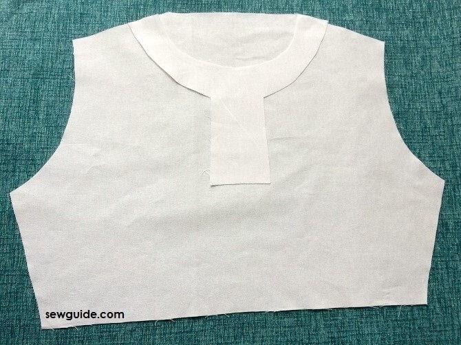 como coser collar chino