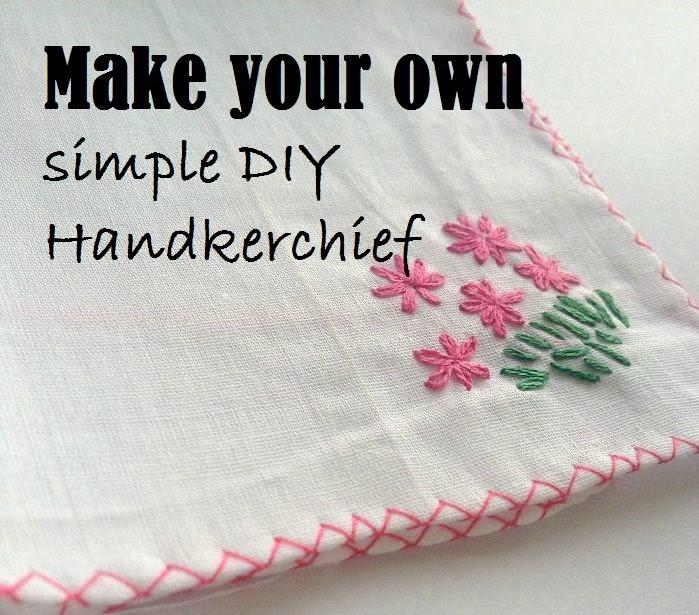 costura de pañuelo bordado