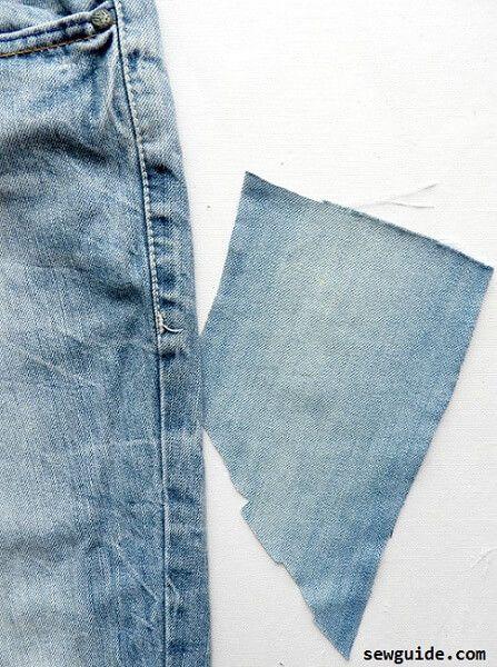 arreglar el agujero en un jeans