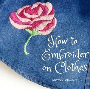 Cómo bordar en ropa