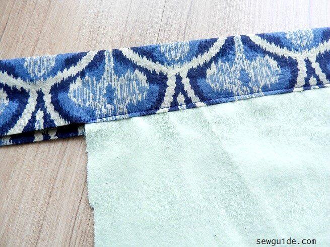 como coser una manta de bebe