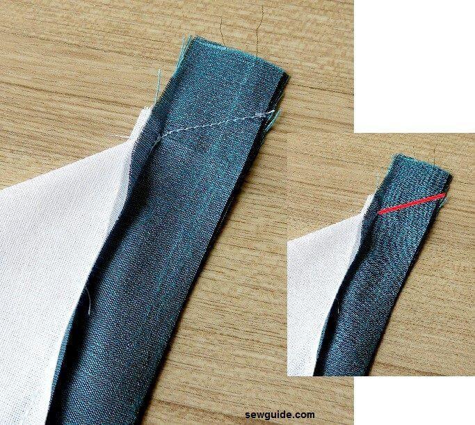 como coser una esquina ingleteada
