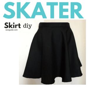 patrón de bricolaje falda skater