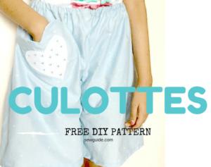 patrón de culottes