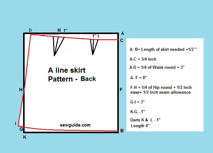 Una falda de línea