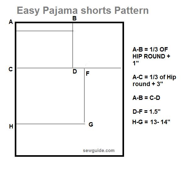 coser pijama corto