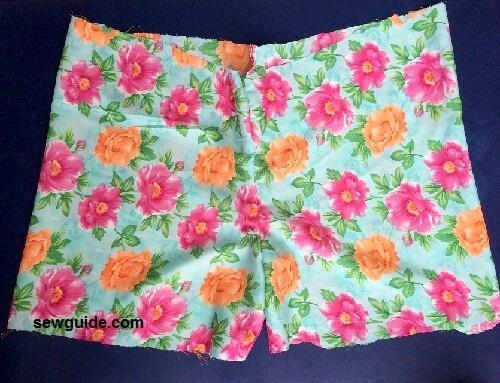 patrón para pantalones cortos