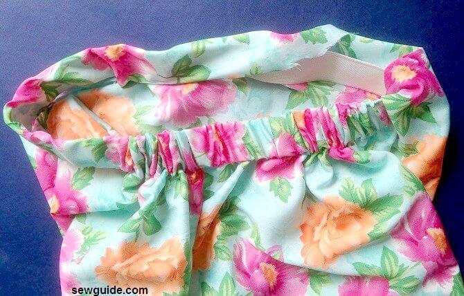 coser un patrón de pantalones cortos