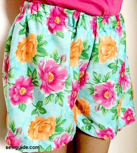 coser unos pantalones cortos