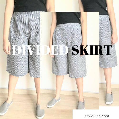 patrón de costura de culottes