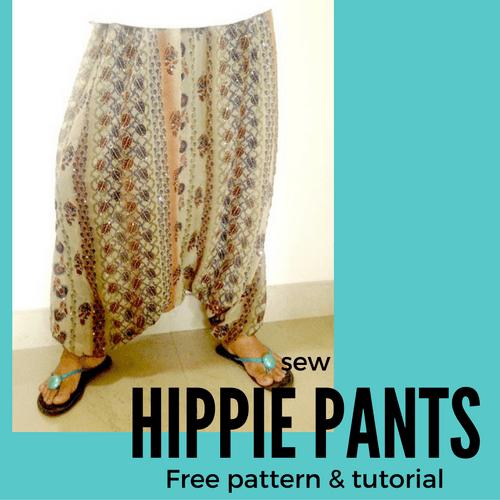 patrón de pantalones hippie fácil