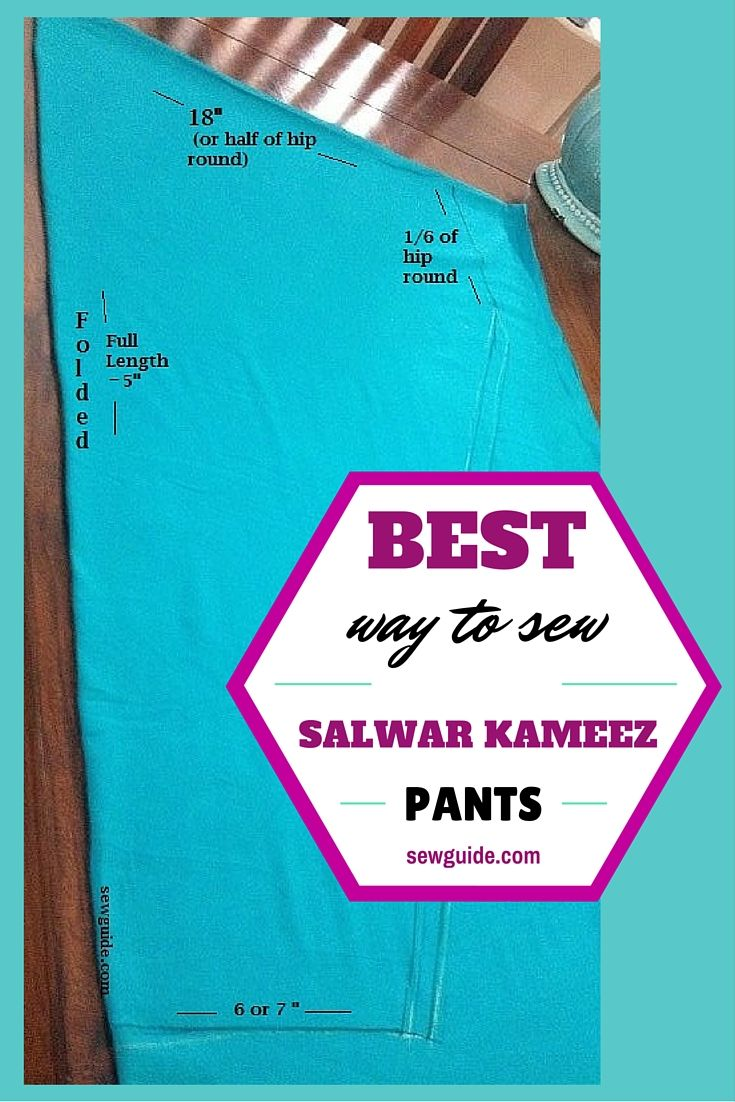 corte y costura de pantalones salwar kameez