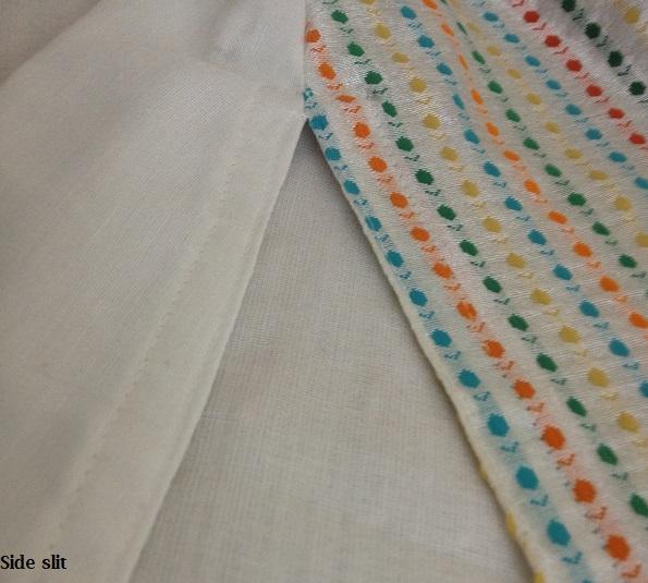 costura lateral de salwar kameez kurta
